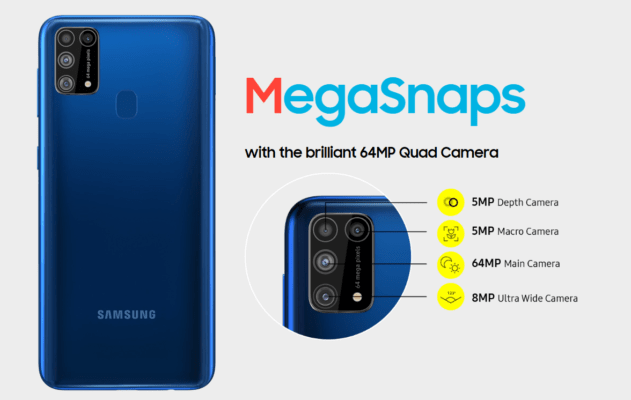 Samsung Galaxy M31 specifications -  MegaMonster Super AMOLED display