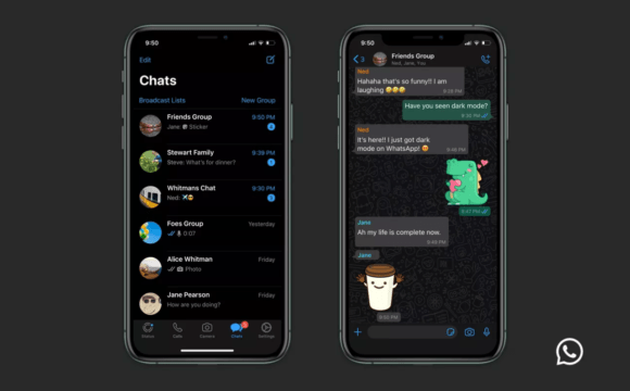 Whatsapp dark mode - ios, iphone and android users