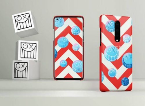 Grab you Never Settle OnePlus 8 Andre Covers today inspired by red and white chevrons