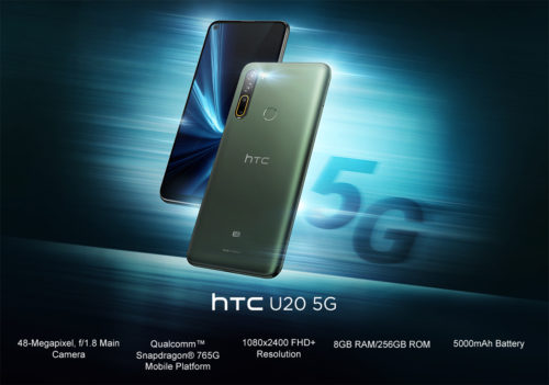 Know everything about HTC U20 5G smartphone launched in India on 16th June 2020. It has  comes with a 6.80-inch touchscreen display with a resolution of 1080x2400 pixels and an aspect ratio of 20:9.HTC U20 5G comes with 8GB of RAM.