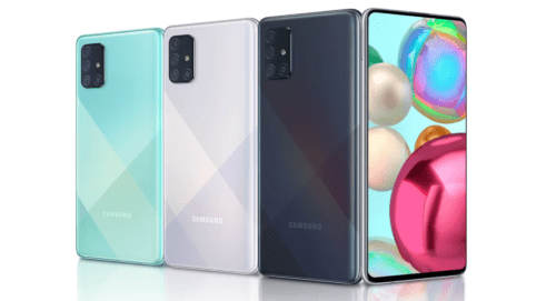 Samsung Galaxy A71 under Samsung Galaxy A Series review - features, specs, release date, price, launch and latest system upgrades. The Android phone has Snapdragon 730 (8nm) Octa-Core, 8GB of RAM, Alive Intelligence, 4500mAh battery, 64MP Main Cam to a 123° 12MP Ultra Wide Cam